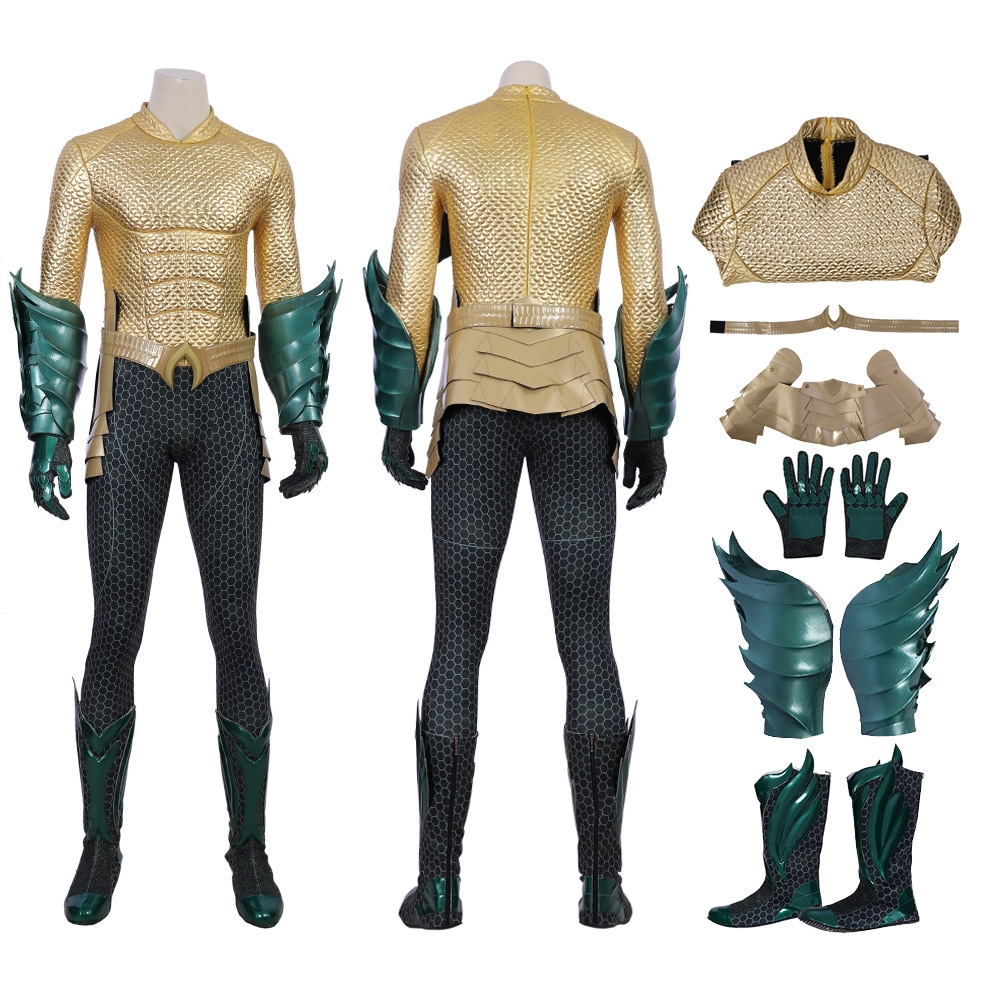 2018 Aquaman Cosplay Costume Arthur Curry Deluxe Suit