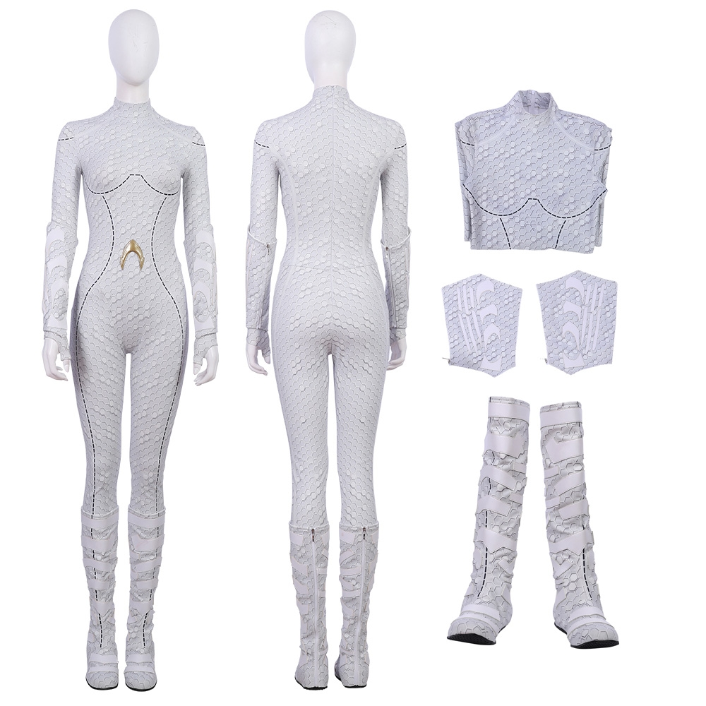 2018 Aquaman Queen Atlanna Cosplay Costume White Suit
