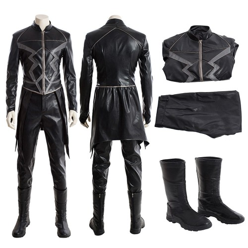 Inhumans Black Bolt Cosplay Costume Full Set