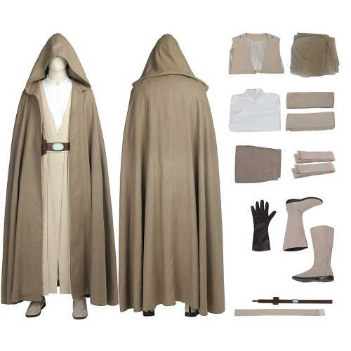 Luke Skywalker Star Wars 8 The Last Jedi Cosplay Costume