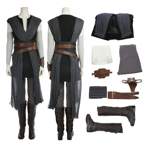 Rey Cosplay Costume Star Wars 8 The Last Jedi