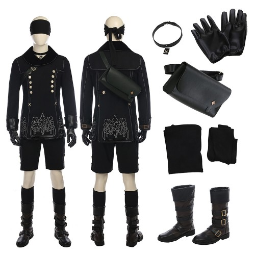 NieR: Automata 9S Cosplay Costumes Deluxe Full Set