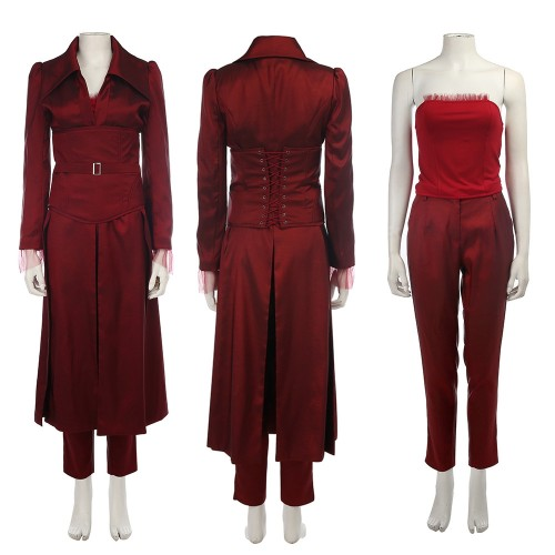Jean Grey Crimson Robe X-Men Phoenix Cosplay Costume