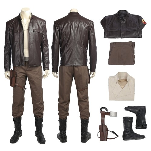 Star Wars 8 The Last Jedi Poe Dameron Outfits Cosplay Costume Full Set