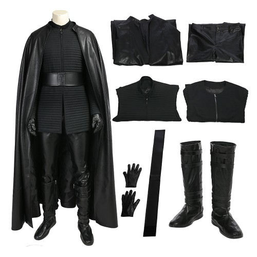 Star Wars 8 The Last Jedi Kylo Ren Outfits Cosplay Costume Deluxe Version