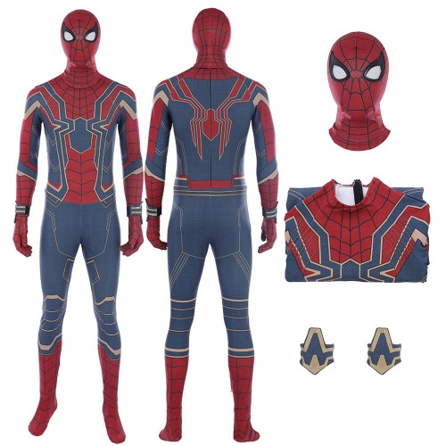 Avengers Infinity War Spider-Man Cosplay Costume Deluxe Version