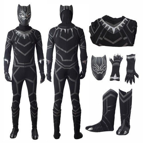 T'Challa Black Panther Cosplay Costume Captain America Civil War
