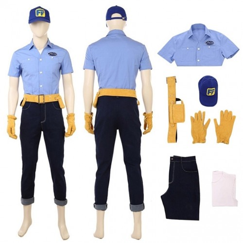 Ralph Breaks The Internet Wreck-It Ralph 2 Felix Cosplay Costume
