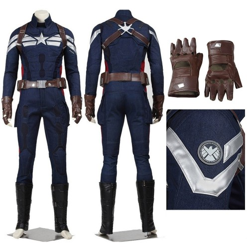 Captain America 2 Captain America Cosplay Steve Rogers Costume Top Level