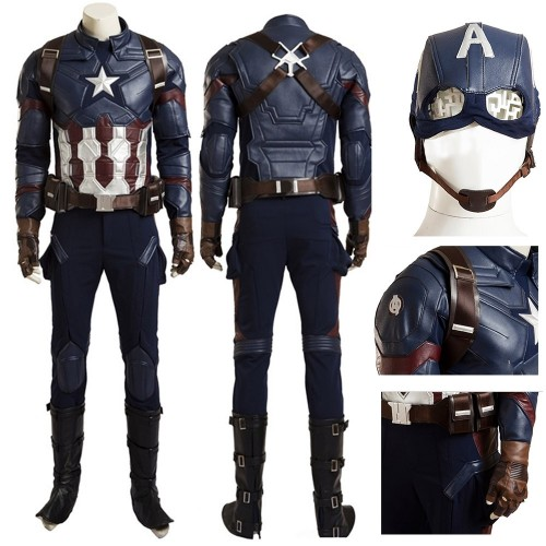 Captain America:Civil War Steve Rogers Cosplay Costume sim1030cwca