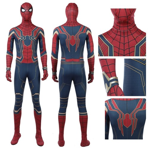 Infinity War Spiderman Suit Cosplay Costume Top Level