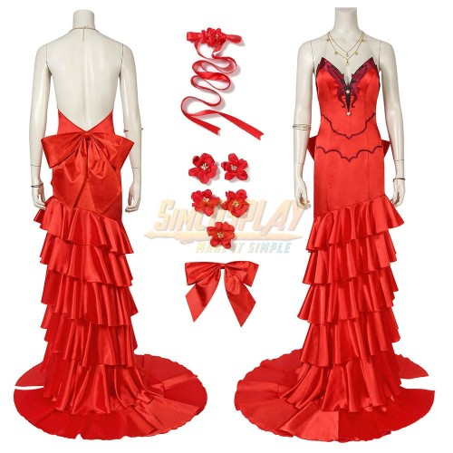Aerith Red Dress Final Fantasy VII Remake Aerith Cosplay Costumes
