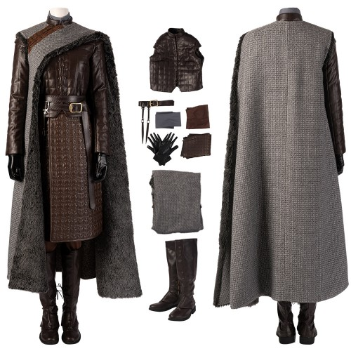 Arya Stark Costume Game of Thrones Season 8 Cosplay Arya Suits Top Level