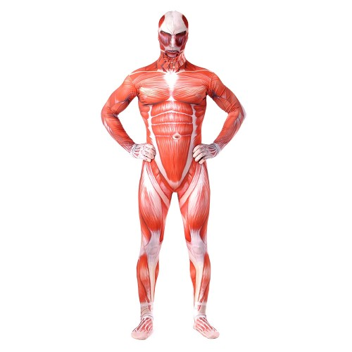 Attack on Titan Muscle Suit Cosplay Costume Jumpsuit Sim1204aotm