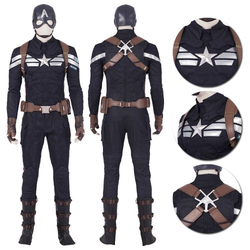 Avengers Endgame Captain America Cosplay Costumes Top Level