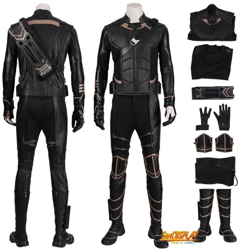 Avengers Endgame Hawkeye Cosplay Costume Clinton Barton Suits Top Level