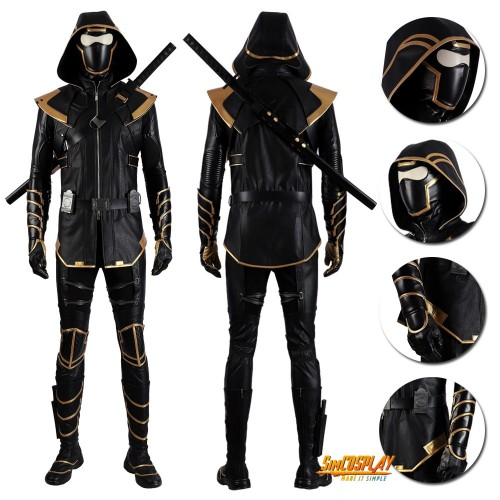 Avengers Endgame Clinton Barton Hawkeye Ronin Cosplay Costume Top Level