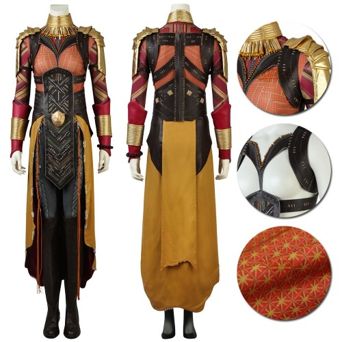 Avengers Endgame Okoye Wakanda General Cosplay Costume Top Level