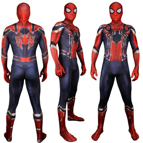 Avengers Infinity War Spider-Man Peter Parker Cosplay Costume 3D Printed