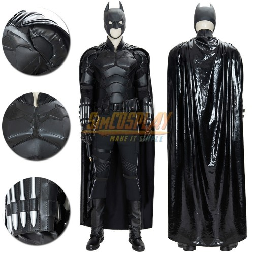 Batman 2021 Cosplay Costumes Leather Batsuit For Superhero Cosplay Ver.1