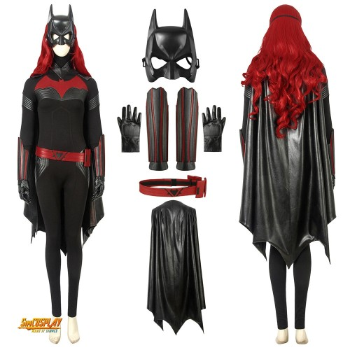 Batwoman Kate Kane Cosplay Costume Black Suit Top Level Sac194357