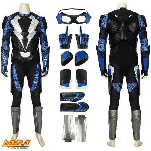 Black Lightning Costume Jefferson Pierce S2 Cosplay Suit Top Level
