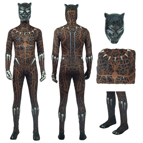 Black Panther Erik Killmonger Leopard Cosplay Costume 2018 New