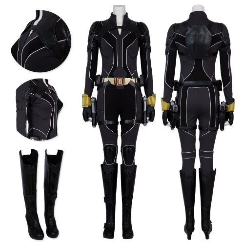 Black Widow 2020 Cosplay Costume Natasha Romanoff New Black Suit Top Level