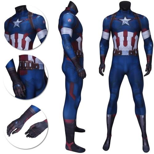 Captain America Cosplay 3D Printed Jumpsuits Steve Rogers BodySuits