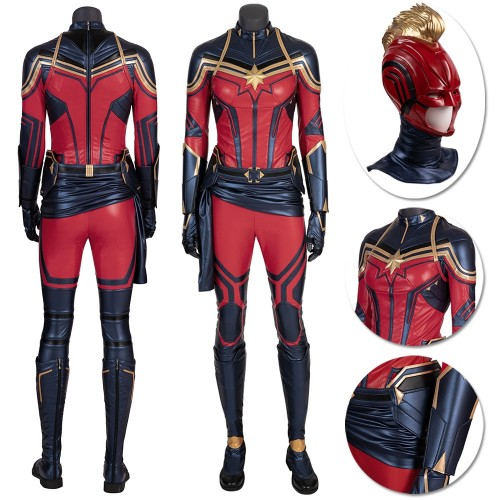Captain Marvel Carol Danvers Cosplay Costume Endgame Version
