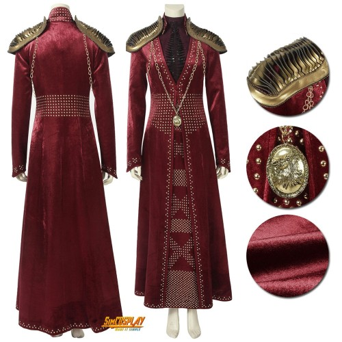 Cersei Lannister Cosplay Costume Game of Thrones Season 8 Queen Dress
