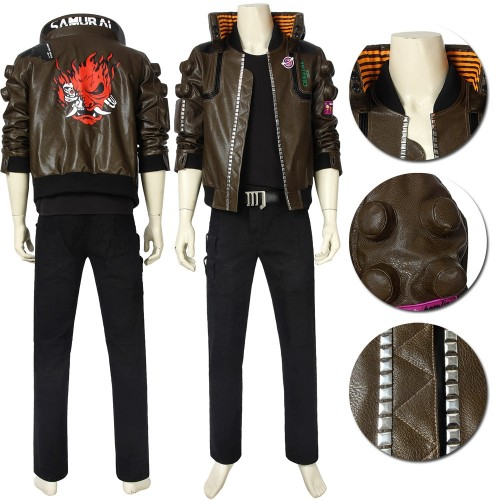 Cyberpunk 2077 Cosplay Costume Male Cosplay Jacket Ver.2