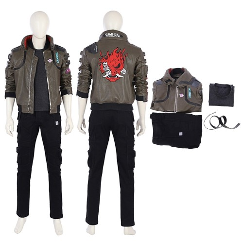 Cyberpunk 2077 Cosplay Costume Male Jackie Full Set