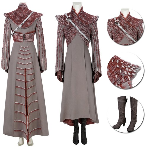 Daenerys Targaryen Cosplay Costume Game of Thrones S8 The One True Queen Suit