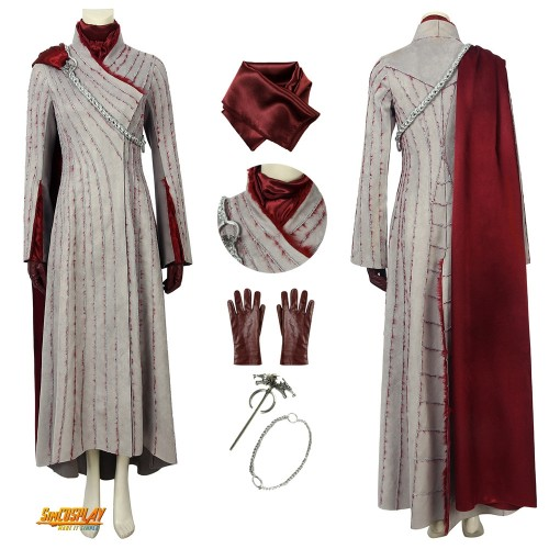 Daenerys Targaryen Costume Game of Thrones Season 8 Plush Dress
