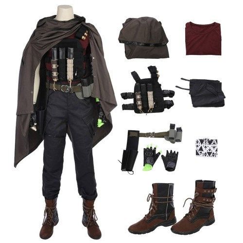 Deadpool 2 Nathan Summers Cable Cosplay Costume Top Level