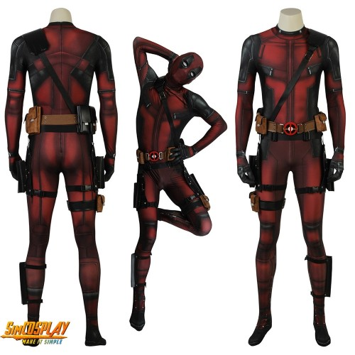 Deadpool Cosplay Costume Wade Wilson Cosplay Suit Spandex Edition