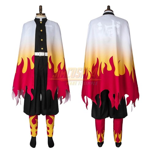 Demon Slayer Kyojuro Rengoku the Flame Hashira Cosplay Costume