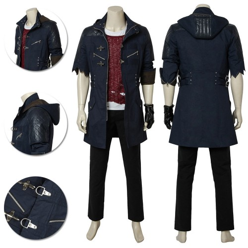 Devil May Cry 5 Nero Costume DMC V Cosplay Half Sleeve Edition