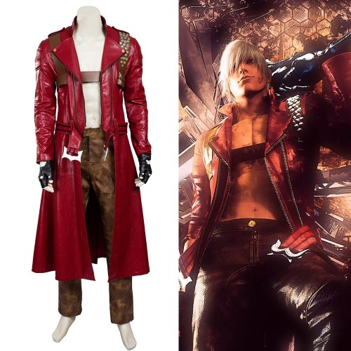 Devil May Cry Dante Cosplay Costumes Top Level