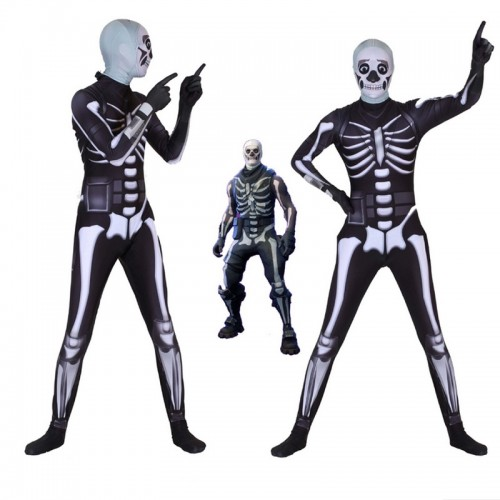 Fortnite Skull Trooper Cosplay Costume Zentai Jumpsuit