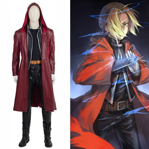 Fullmetal Alchemist Edward Elric Cosplay Costume Top Level