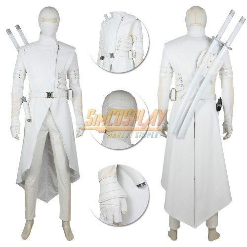 G I Joe White Ninja Cosplay Costumes Top Level