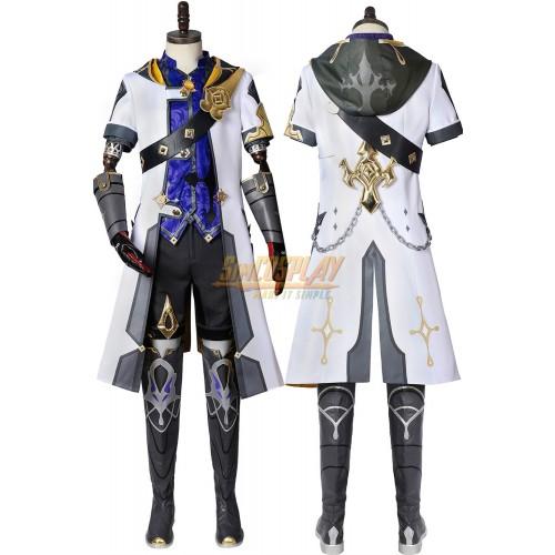 Genshin Impact Albedo Dress Up Cosplay Costume Top Level