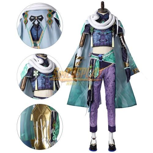 Genshin Impact Baizhu Cosplay Costume Promotional Edition