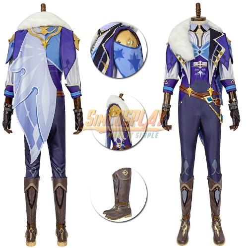 Genshin Impact Kaeya Cosplay Costume Suit Top Level