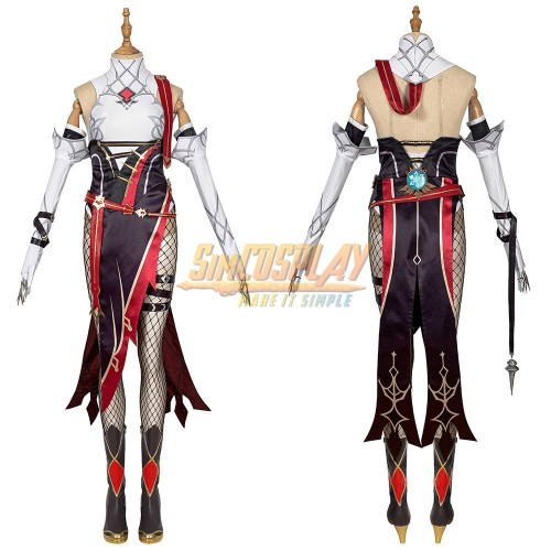Genshin Impact Rosaria Cosplay Costume Suit Top Level