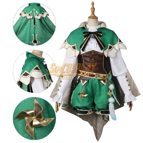 Genshin Impact Venti Cosplay Costume Promotional Edition