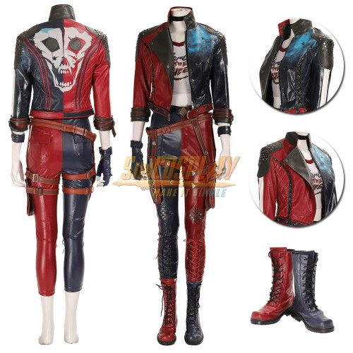 Harley Quinn Cosplay Costumes Suicide Squad Kill the Justice League Edition Cosplay Suit Top Level