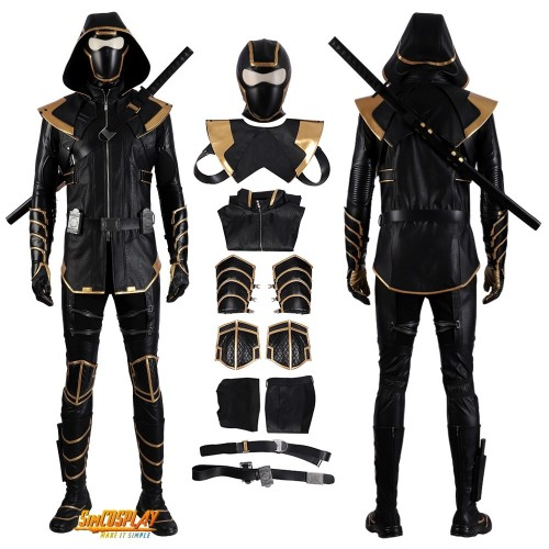 Hawkeye Ronin Cosplay Costume Ninjia Suit Avengers Endgame Cosplay Top Level
